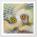 Abstract Owl Art Print