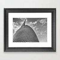 Swan Bell Tower Framed Art Print