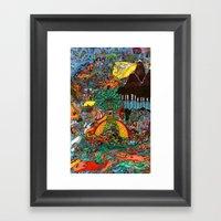 A Land Of Chaos Framed Art Print