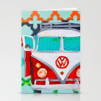 vw Stationery Cards featuring VW by Drica Lobo Art