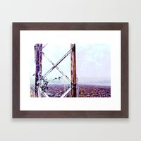 Rusty Pylon Framed Art Print