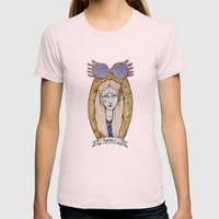 loony Womens Fitted Tee Light Pink SMALL