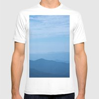Blue Ridge Mountains Mens Fitted Tee White SMALL