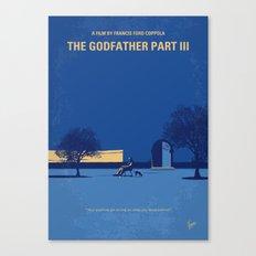 No686-3 My Godfather III minimal movie poster Canvas Print
