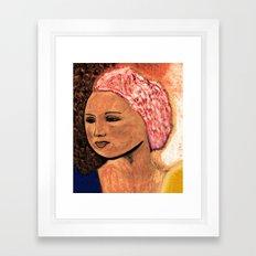 Missing Lotus Framed Art Print