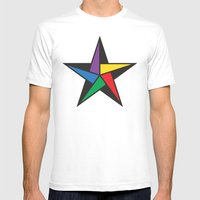 Geometric star - to wear Mens Fitted Tee White SMALL