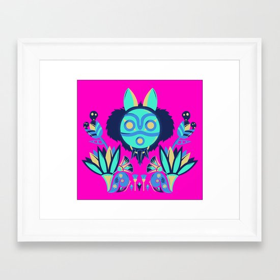 Mono Deco Framed Art Print