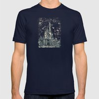 Disneyland Mix Mens Fitted Tee Navy SMALL