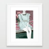 Sitting Girl Framed Art Print