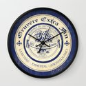 Vintage Cheese Label Blue Wall Clock