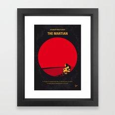 No620 My The Martian minimal movie poster Framed Art Print