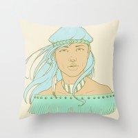 American Indian Nature G… Throw Pillow