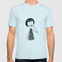 Lipstick Mens Fitted Tee Light Blue SMALL