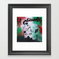 Mexican flag themed Sergio Romo SF Giants Gigantes Aerosol Stencil Art Painting Framed Art Print