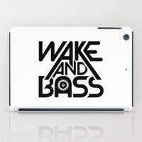 Wake And Bass (Black) iPad Case