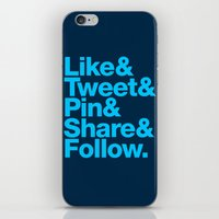 iPhone & iPod Skin featuring The Social Type by Firefish