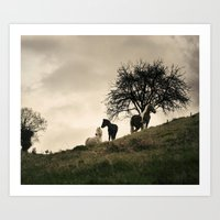 Caballos Art Print