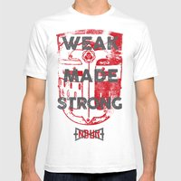 WEAK MADE STRONG Mens Fitted Tee White SMALL