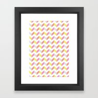 Yellow & Pink Framed Art Print