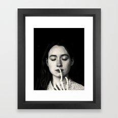 shh Framed Art Print