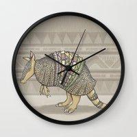 Abstract Armor Wall Clock