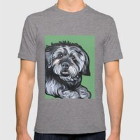 Biscuit Mens Fitted Tee Tri-Grey SMALL