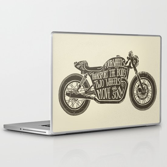 Two wheels move the soul Laptop & iPad Skin