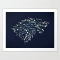 Stark Forecast - Dark Ve… Art Print