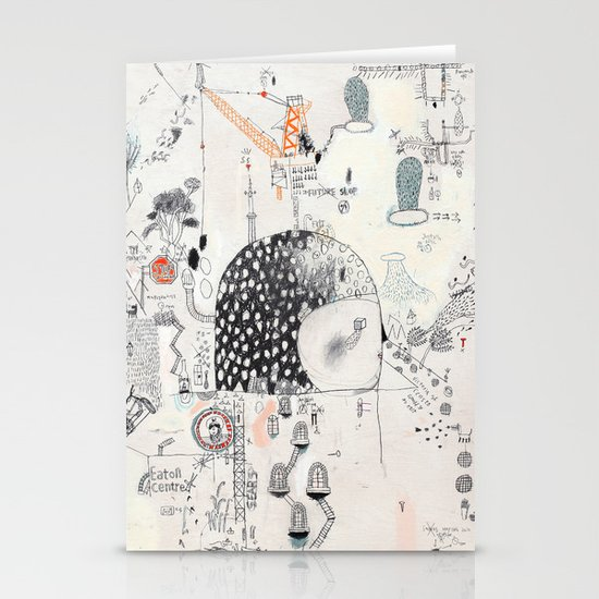Downtown Stationery Card