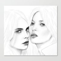 CARA With KATE Canvas Print