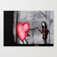 Nightmare Before Valenti… Canvas Print