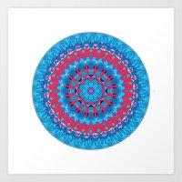 Octagon Rosette 002 | Co… Art Print