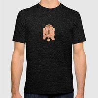 R2D2 Mens Fitted Tee Tri-Black SMALL