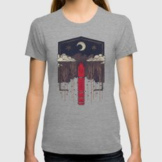 The Lost Obelisk Womens Fitted Tee Tri-Grey SMALL