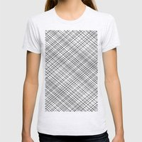 Weave 45 Black and White Womens Fitted Tee Ash Grey SMALL