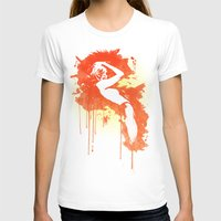 Catrin2 Womens Fitted Tee White SMALL