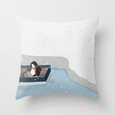 Reaching the South Pole Throw Pillow