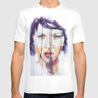 Portraint 1 Mens Fitted Tee White SMALL