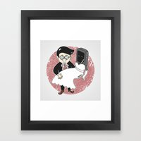Geek In Love Framed Art Print