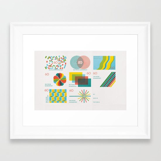 Homage to the Stamp Print Framed Art Print