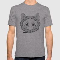 Pirate Fox Mens Fitted Tee Athletic Grey SMALL