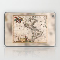 Visscher Map of North America and South America 1658 (with 2015 enhancements) Laptop & iPad Skin