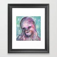 Pink Fur Framed Art Print