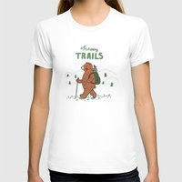 Happy Trails Womens Fitted Tee White SMALL