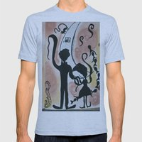 Waving to the moon Mens Fitted Tee Athletic Blue SMALL