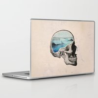 skull Laptop & iPad Skins featuring Brain Waves by Chase Kunz