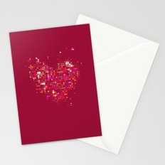 Heart2 Red Stationery Cards