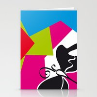 Black Flying Stationery Cards