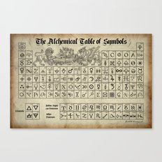 The Alchemical Table of Symbols Canvas Print