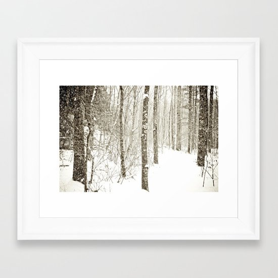 Wintry Mix Framed Art Print